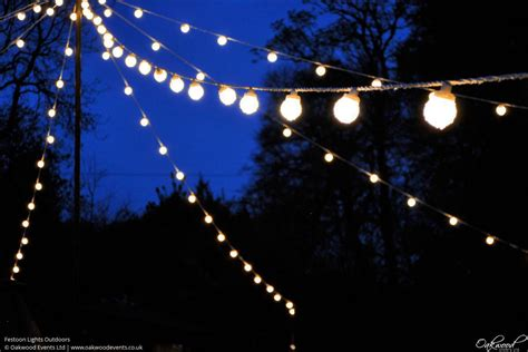 Festoon Lights Hire Oakwood Events Outside Lights