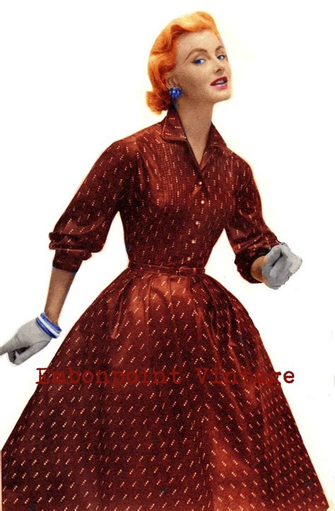 embonpoint vintage pattern review vintage sewing pattern 1956 swing dress pdf plus size or