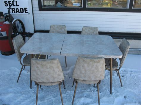 1950s Kitchen Tables 1950 S City Deco Retro Vintage Dinette Kitchen Table With 6 Chairs Ebay