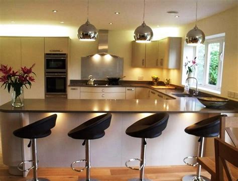 kitchen island with breakfast bar designs l shaped kitchen island breakfast bar home design