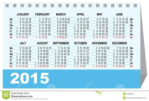 design desk calendar 2015 desk calendar 2015 template stock vector image 43290981