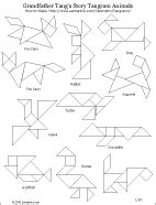 printable tangram activity sheets tangram puzzle sheets and solutions tangram puzzles