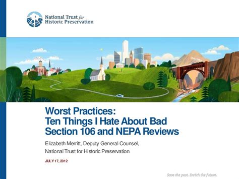 section 106 nepa ten things i hate about bad section 106 and nepa reviews