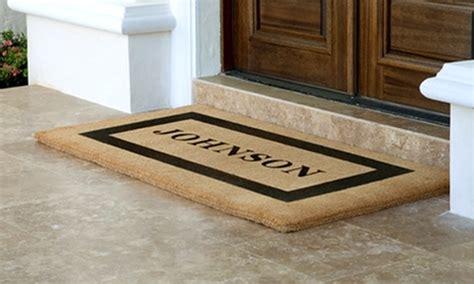 Custom Doormats by Half Mats From Personalized Doormats Company
