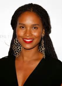 american braided hairstyles for 50 and joy bryant african american half up half down senegalese