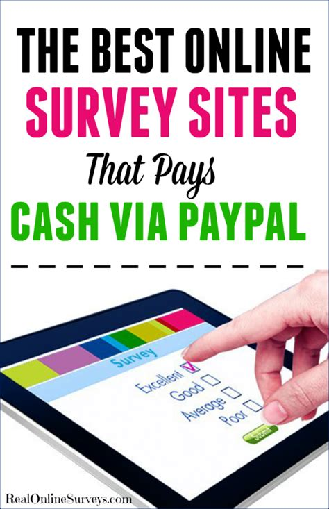 Best Online Surveys For Money - the best online surveys that pays cash via paypal