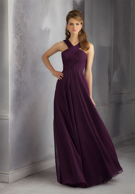 Chiffon Bridesmaid Dress by Draped Luxe Chiffon Morilee Bridesmaid Dress With Unique