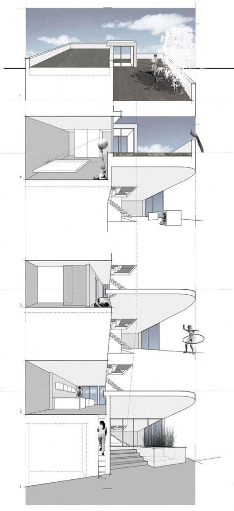 split level house section split level house in philadelphia by qb design