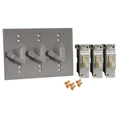 Bell 5126 0 3 Gang Lever Switch Weatherproof Cover Wall Outdoor Light Switch Cover