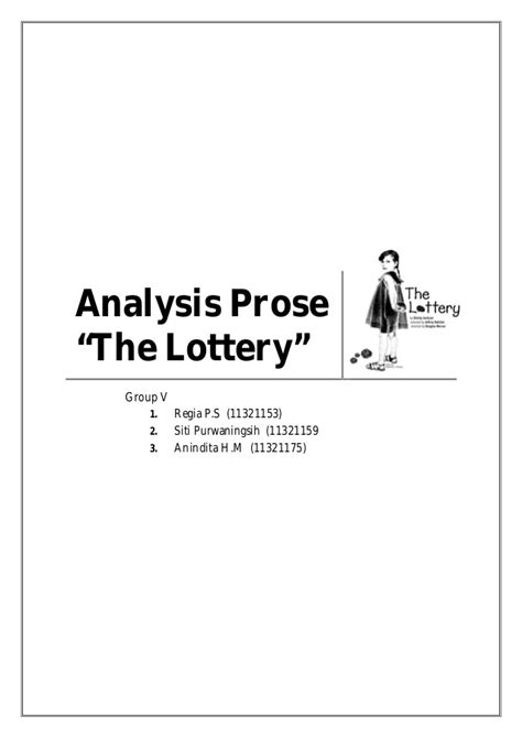 thesis for the lottery the lottery essay research paper on shakespeare
