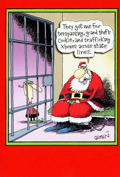 santa  jail funny humorous christmas card  nobleworks