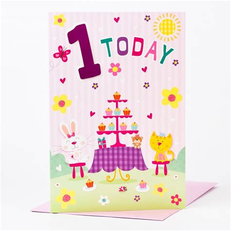 1st Birthday Cards Giant 1st Birthday Card 1 Today Only 99p