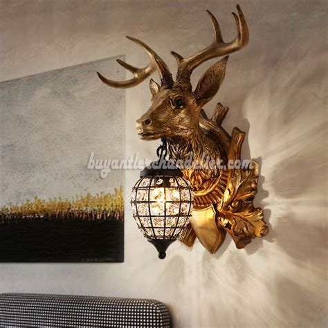 hanging deer lights deer antler wall ls hanging lights decor