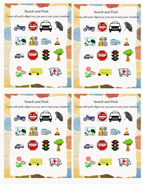 printable road trip activities road trip activity bag 4 cars theme the peaceful mom