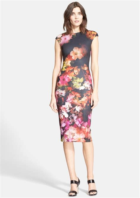 Allover Floral Prints Flatter Lifestyle Magazine 3 by Ted Baker Ted Baker Catina Floral Print Con