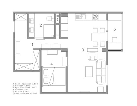 75 Square Meters To Feet by 2 Single Bedroom Apartment Designs Under 75 Square Meters