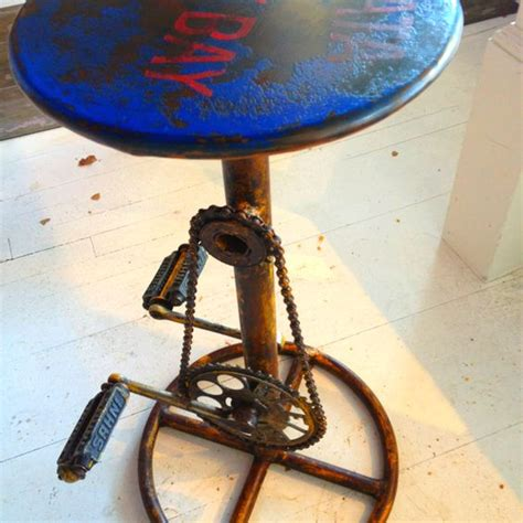 Bar Stools With Bike Pedals by Pedal Power Bar Stool Useful Pedals Power