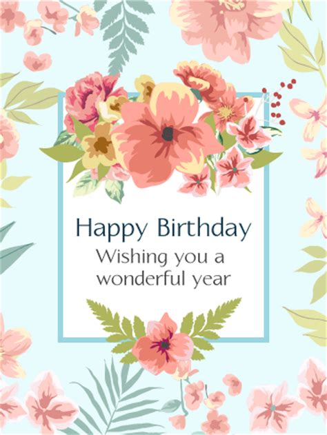 pink birthday flower card birthday greeting cards by davia
