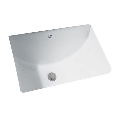 American Standard Studio Undercounter Sink american standard studio undercounter bathroom sink with glazed underside in white 0614300 020
