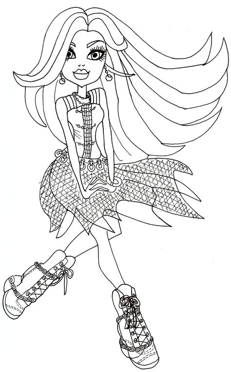 monster high spectra coloring pages free printable monster high coloring pages floating