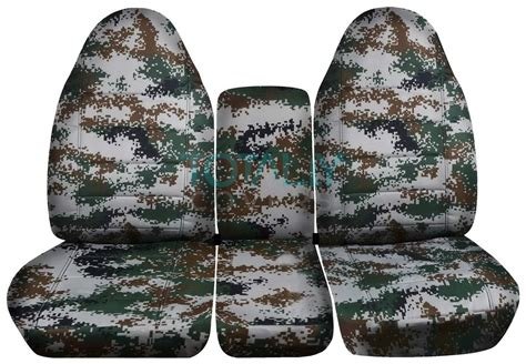 digital camo seat covers f150 1993 1998 ford f series f 150 250 350 40 20 40 camo truck