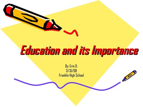 feminization of education one of five reasons why boys are education and its importance power point