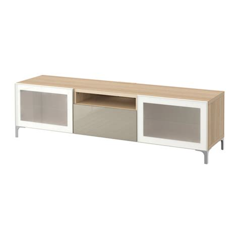 besta bench best 197 tv bench white stained oak effect selsviken high