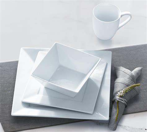 Restomart Plates 4 Pc Set by 16pc square porcelain dinnerware set