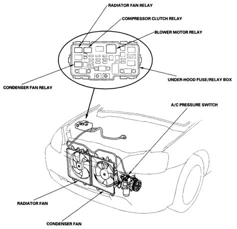 2001 civic radiator fan relay wiring diagrams wiring