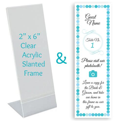 photo booth frame cards template custom place card inserts in photo booth frames photo