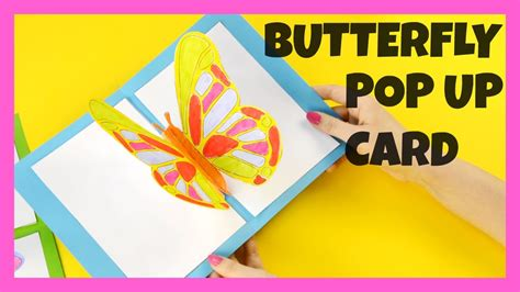 free butterfly pop up card templates 3d butterfly pop up card craft butterfly craft idea