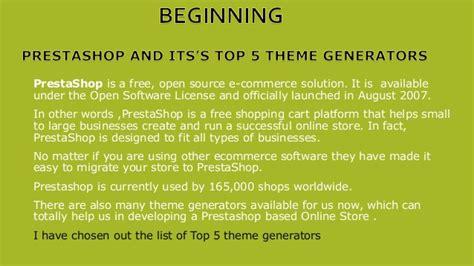 its theme generator sap prestashop and its top 5 theme generator