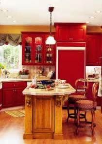 Red Kitchen Cabinet by Kitchen Cabinets What Color Should I Choose Kitchen