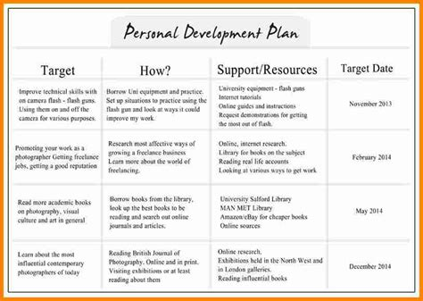 personal business plan template 6 individual development plan exles budget template