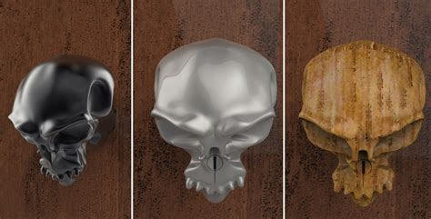 Skull Door Knob by Furniture Cool Material