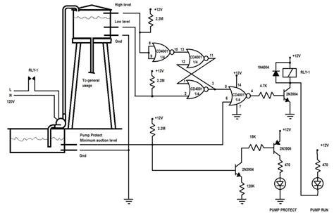 water tank level controller circuit diagram water level kit