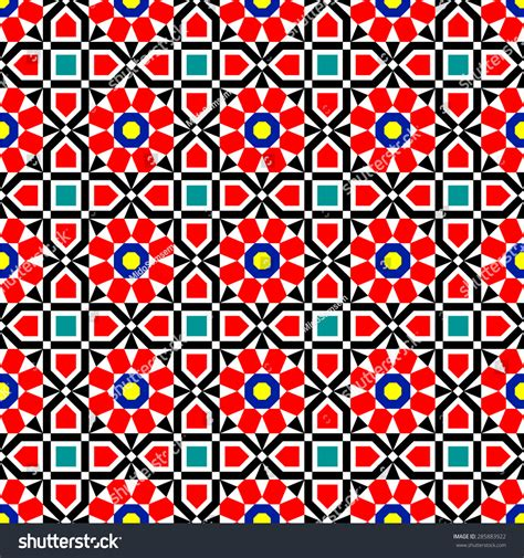 vector pattern eastern traditional middle eastern colorful vector islamic art