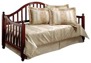 Wood Daybed With Trundle Hillsdale Allendale Wood Daybed In Cherry Finish With Roll Out Trundle Transitional Daybeds