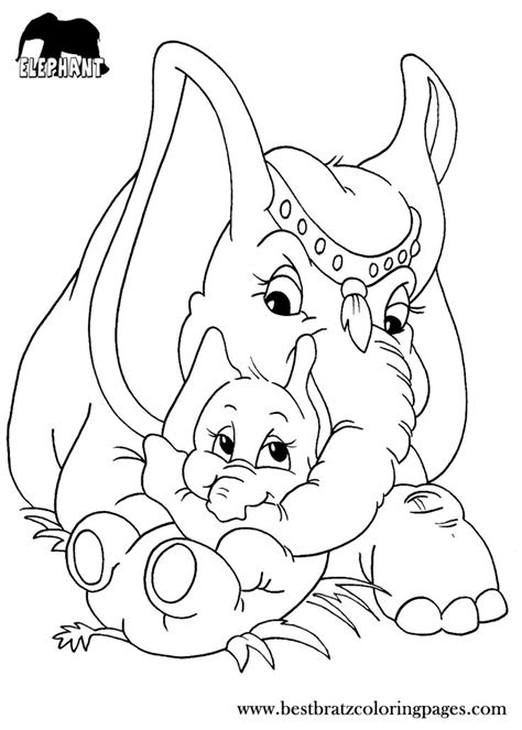 girl elephant coloring pages free printable elephant coloring pages for kids coloring