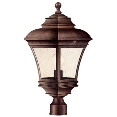 Hton Bay Outdoor Lighting Parts Hton Bay Outdoor Flemish Copper Post Lantern Discontinued Hb7037 294 The Home Depot