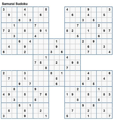 printable sudoku 5 in 1 samarai sudoku related keywords samarai sudoku long tail