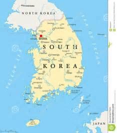 political map of korea south korea political map stock vector image 69334614