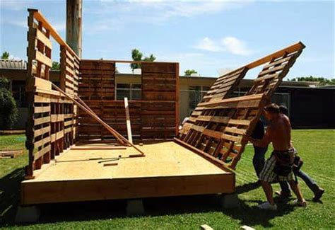 construct your own house tiny pallet house plans 99 pallets