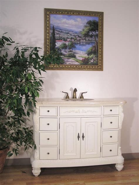 48 Inch Single Sink Bathroom Vanity with Antique White