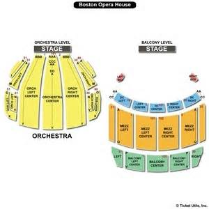 Boston Opera House Seating Plan The Boston Opera House Seating Charts