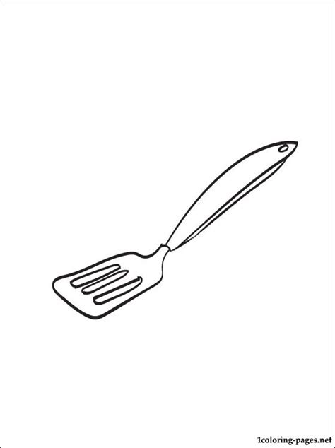 coloring pictures kitchen utensils spatula coloring page coloring pages
