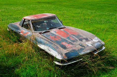 backyard finds 67 corvette abandoned in a field gets a chance at a