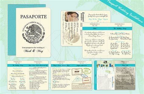 wedding passport template travel archives kalidad prints and favors