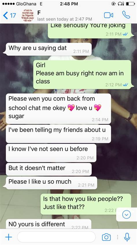 nigerian lady shares chats she had with a lesbian who has been stalking her romance nigeria