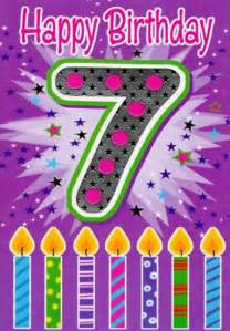 Happy 7th birthday 7 today card cards love kates